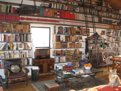 La sala biblioteca in cui si tengono le lezioni di inglese