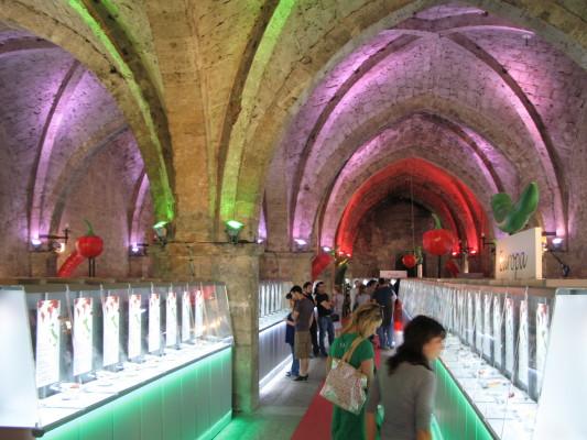 La sala della mostra a Rieti, un tempio del peperoncino